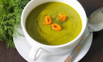 Крем суп из шпината с копченым лососем