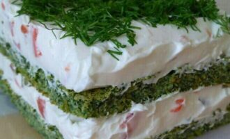 Торт со шпинатом