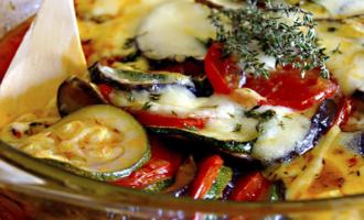 Рататуй рецепт с моцареллой в духовке