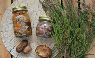 лесные заготовки из грибов