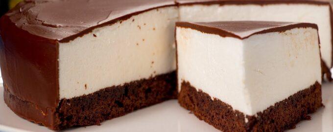 торт суфле на брауни